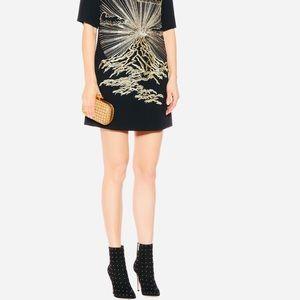 Stella McCartney Volcano Embroidered Cady Dress